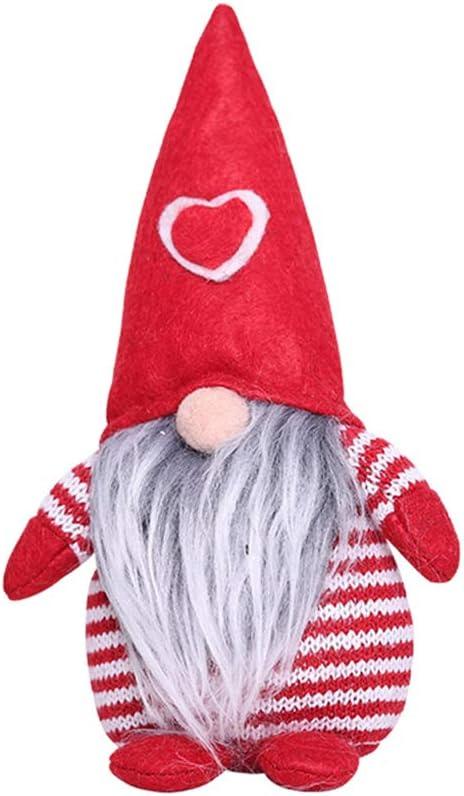 GHTGHTS Merry Christmas Herzm/ütze schwedischer Weihnachtsmann Zwerg Pl/üsch Puppe Ornamente Handarbeit Elf Spielzeug Urlaub Zuhause Party Dekoration grau