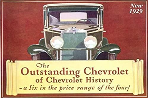 1929 CHEVROLET FACTORY DEALERSHIPS SALES BROCHURE with PRICES