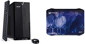Acer Aspire TC-885-UA91 Desktop, 9th Gen Intel Core i3-9100, 8GB DDR4, 512GB SSD, 8X DVD, 802.11AC WiFi, USB 3.1 Type C, Windows 10 Home,Black with Predator Alien Jungle Mousepad, Black