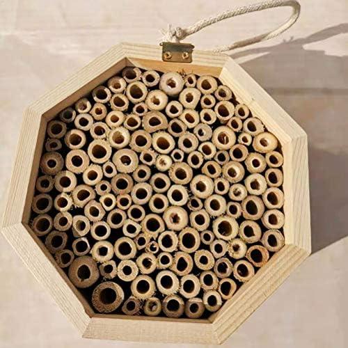 Lespar Insektenhotel für Wildbienen, Insektenhaus Bienenkastennistung Nistkastenhilfe Biene für Garten halten