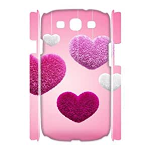 LZHCASE Cover Case Heart 3D Diy For Samsung Galaxy S3 I9300 [Pattern-1]
