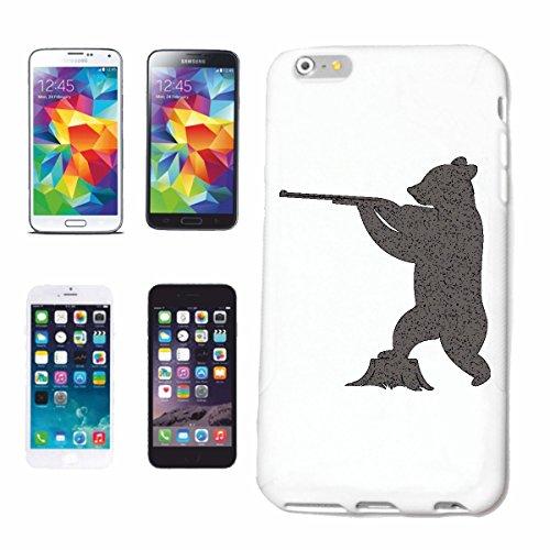 "cas de téléphone iPhone 7+ Plus ""POLAR BEAR AVEC GUN SHOOT THE POLAR BEAR TEDDY BEAR BEAR"" Hard Case Cover Téléphone Covers Smart Cover pour Apple iPhone en blanc"