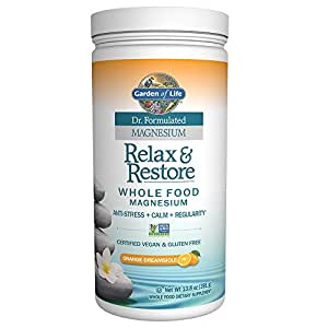 Garden of life dr formulated magnesium relax restore orange dreamsicle for Garden of life relax and restore