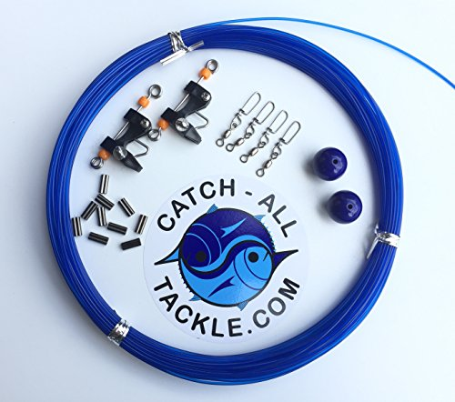 Catch All Tackle Outrigger rigging Kit - Line,Balls,Clips,Snaps, & Crimps ()