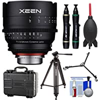 Rokinon Xeen 24mm T/1.5 Wide-Angle Pro Cine Lens (for Video DSLR Cinema Canon EF Cameras) with Waterproof Hard Case + Tripod + Dolly + Kit