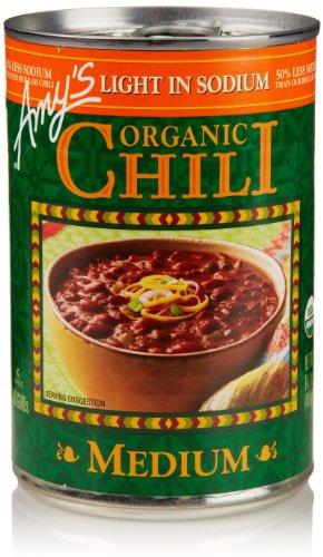 - Amy's Chilis, Light in Sodium Organic Medium Chili, 14.7 Ounce
