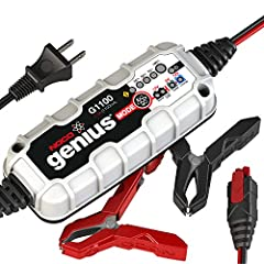The G1100 1.1A is designed to charge 6-volt and 12-volt lead-acid and lithium-ion batteries up to 40Ah. It can also effectively maintain automotive, marine, RV, powersport, lawn & garden and deep-cycle batteries. It charges 2x faster than...