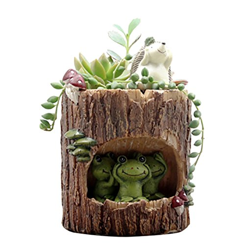 Adarl DIY Mini Creative Flower Pot Flower&Fruits Plants Seeds Gardening Pots Planters&Container Accessories Resin Frogs Pots Big