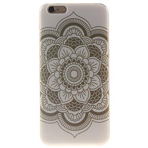 Custodia iPhone 6 Plus / iPhone 6S Plus , LH Fiori Bianchi TPU Silicone Cristallo Morbido Case Cover Custodie per Apple iPhone 6 Plus / iPhone 6S Plus 5.5