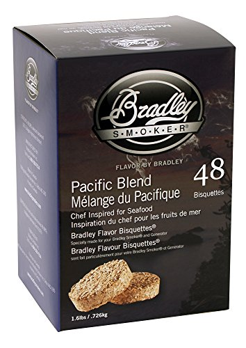 Bradley Smokers Pacific Blend Bisquettes (2.75 x 6.875 x 9.25-Inch, Pack of 48) ()
