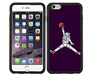 Cool Astronaut Jump Man on Purple Background Rubber Snap on Phone Case (iPhone 6)