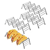 Taco Holder Stand, STYDDI 4 Pack Taco Truck Tray Stainless Steel Taco Rack Shells, Hot Dog Holder, Oven Safe