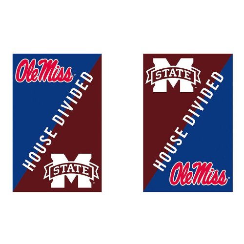 Cheap NCAA Vertical Flag NCAA Team: Ole Miss and Mississippi State