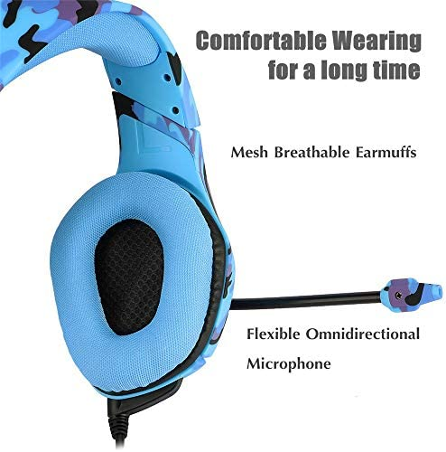 Gaming Headset PS4, Compatible for Xbox One, Nintendo Switch, ONIKUMA K1 Stereo Noise Cancelling Over Ear Headphones with Microphone,Volume Control for PC, Phone, with Free Headphone Hook 511a1e0z4XL