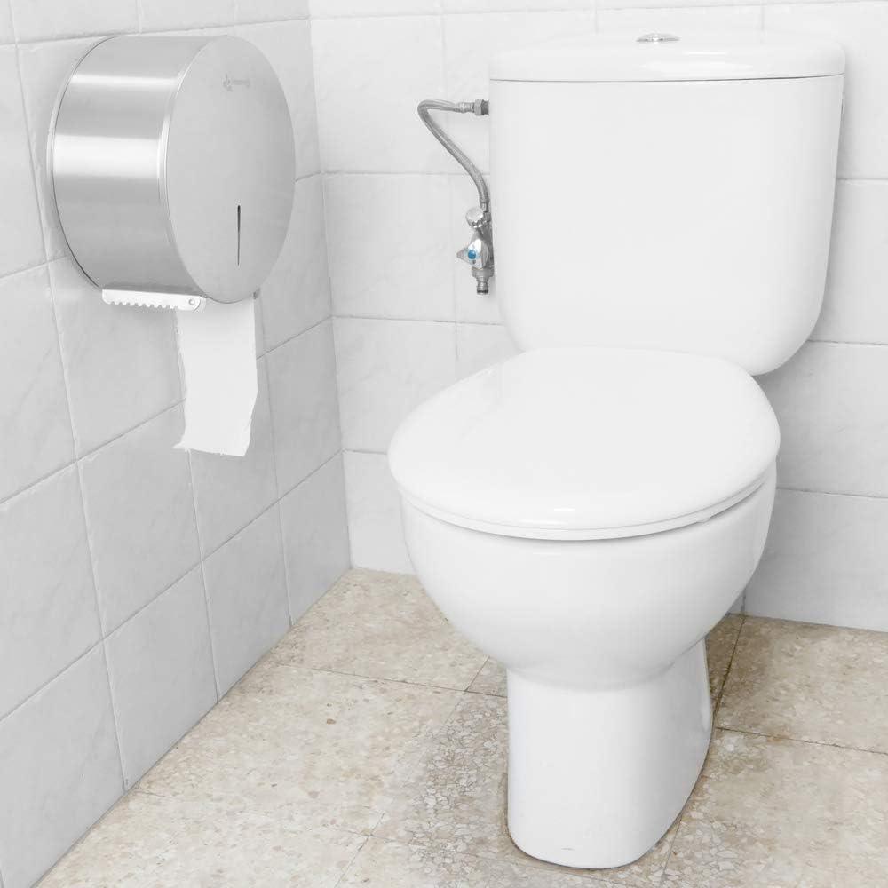 Toilet roll paper dispenser PrimeMatik Stainless steel industrial roll holder for rest room
