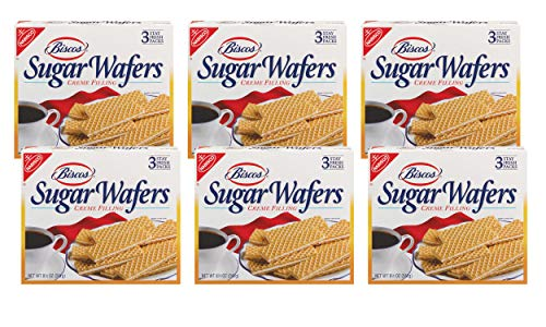 (Biscos Sugar Wafers with Creme Filling, 8.5 Ounce (Pack of 6))