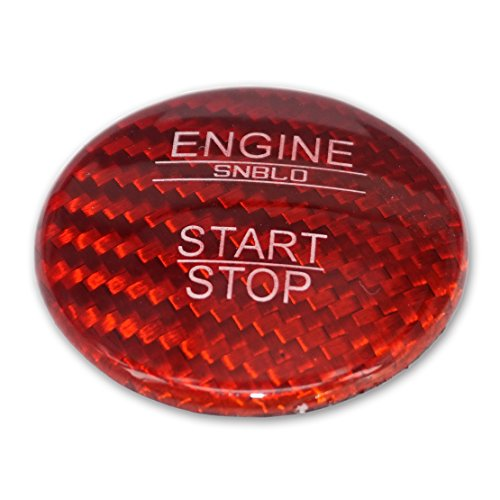 beler Red Carbon Fiber Engine Start Stop Push Button Cover Cap Trim for Benz E Class W212 E180 E200 E260 E300 E320 E400