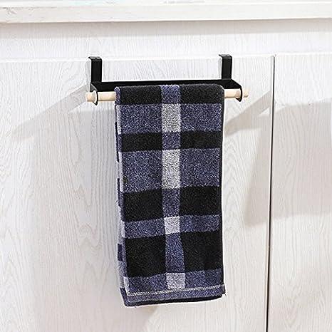 TOOGOO solo poste soporte de toalla de papel toallero Cuarto de bano rollo de papel higienico armario gancho gancho accesorios de cocina negro: Amazon.es: ...