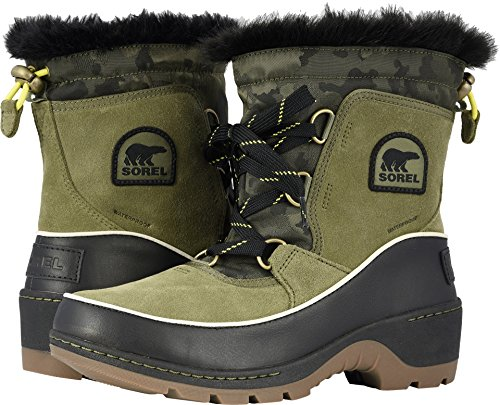Suede Combination III Hiker Black SOREL Booties Green Tivoli Women's Textile zEq0P07