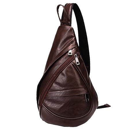 Pecho Mochila Cuero SINOKAL Bolso Pecho Casual Bandolera Hombro triángulo  Paquetes Daypacks para Hombres Mujeres Sling d15b773d3d72c
