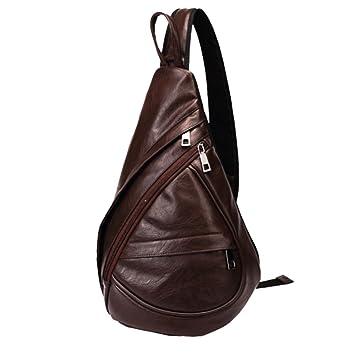 Pecho Mochila Cuero SINOKAL Bolso Pecho Casual Bandolera Hombro triángulo Paquetes Daypacks para Hombres Mujeres Sling Bolsa de Carga para el Deporte al ...