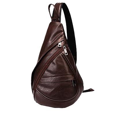 Leather Sling Backpack Bag
