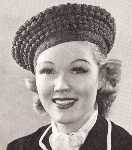 Vintage Crochet PATTERN to make - Beret Hat Shell Stitch Retro. NOT a finished item. This is a pattern and/or instructions to make the item only.