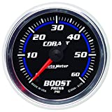 Auto Meter 6170 Cobalt 2-1/16'' 0-60 PSI Full Sweep Electric Boost Gauge