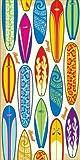 Hawaii Island Home Beach Towel 30'' x 60'' Surfboards