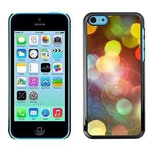 EJOY---Cubierta de la caja de protección la piel dura para el / iPhone 5C / --Bokeh Luces