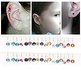34pcs Cartilage Earrings for Women Cuff Earrings Ear Cuff Non-Pierced Fake Simulated Dimond Clip On Earrings Sterling Silver Ear Clips Wrap