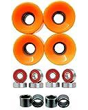 Everland 60mm Wheels w/ Bearings & Spacers (Orange)
