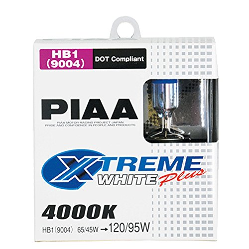 PIAA 19614 9004 (HB1) Xtreme White Plus High Performance Halogen Bulb, (Pack of 2)Pack
