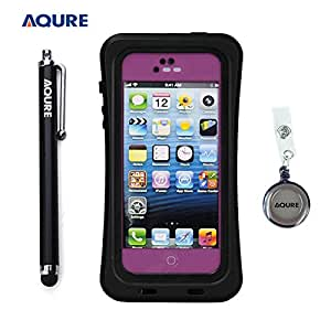 AQURE Iphone Latest Waterproof Case Floating on the Water with Stylus Pen and Retractable Reel for Iphone 5 5S (Pink)