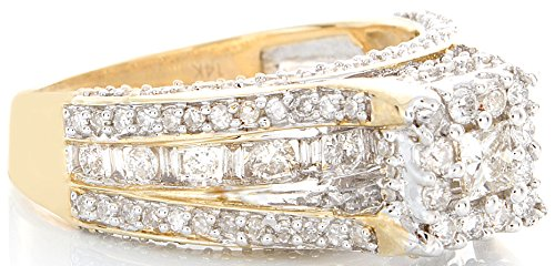 1.42 CT Excellent Cut Round Diamond (H-1 color, i1-i2 Clarity) in 10K Gold Fashion Ring by Zacks Fine Jewelry (Image #1)