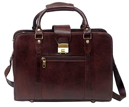 e8287743bb ZipperNext 15 inch Leather Laptop Bag Briefcase Messenger Bag for Women or  Men