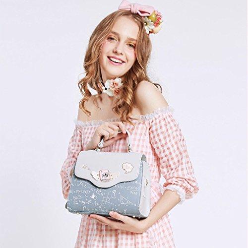 Ms Korean Color Bag Ms B Handbag Color PU B Version Shoulder Hit Crossbody Shoulder Messenger JIUTE Leather qS4nTXw