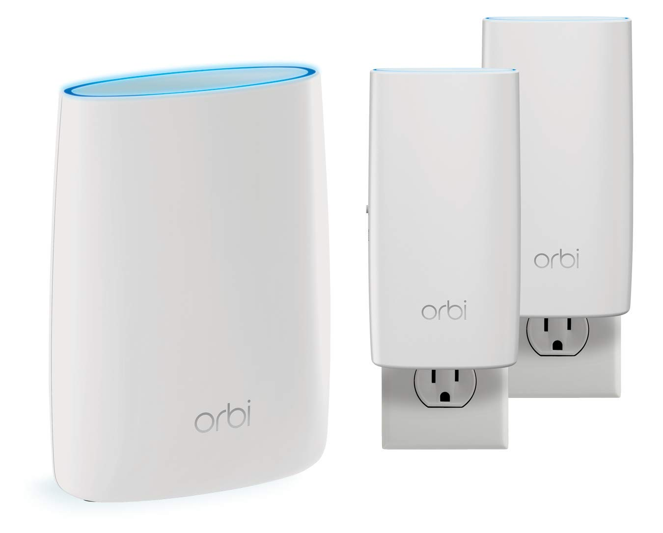 NETGEAR Orbi Whole Home Mesh WiFi System - Tri-Band, Up to 5,500 sqft,  AC3000 (RBK52W)