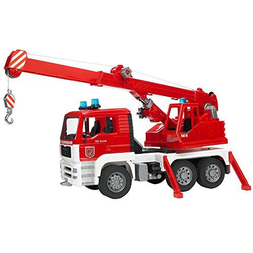 Bruder 02770 - Camion de pompier MAN rouge avec module son et lumière