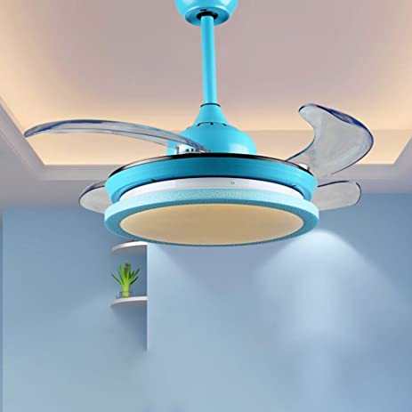 Rs lighting modern simple children bedroom fan lights 42 inch led rs lighting modern simple children bedroom fan lights 42 inch led stealth fan chandelier blue aloadofball Image collections