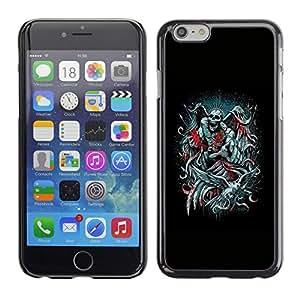 All Phone Most Case / Hard PC Metal piece Shell Slim Cover Protective Case Carcasa Funda Caso de protección para Apple Iphone 6 Angel Death Black Wings Heart Bible