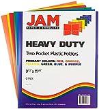 JAM PAPER Heavy Duty Plastic 2 Pocket School