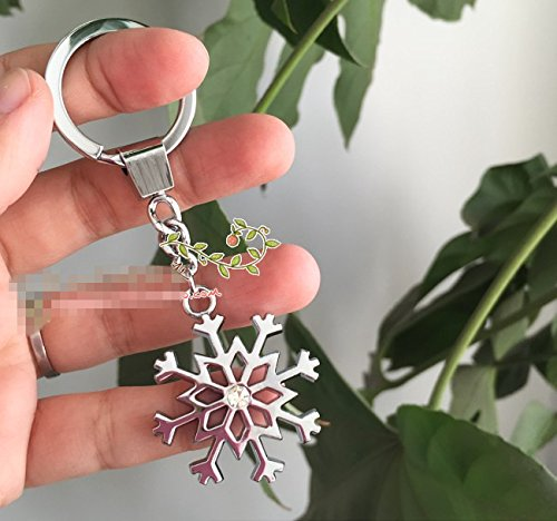 (Set auger snowflakes hollow out Charm Keyring key ring Creative key chain tourist souvenirs Keychain key)