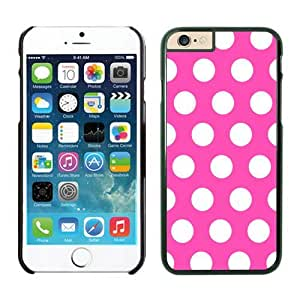 Iphone 6 Case 4.7 Inches, Soft Rubber Black Phone Case Cover for Apple Iphone 6, Polka Rose and White Dot Iphone 6 Case Cover Speck