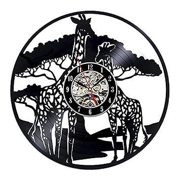 Türign® Relojes de Pared Reloj De Cuarzo 3d dibujos animados Jirafa mesa Relojes, Reloj, Reloj de pared: Amazon.es: Hogar