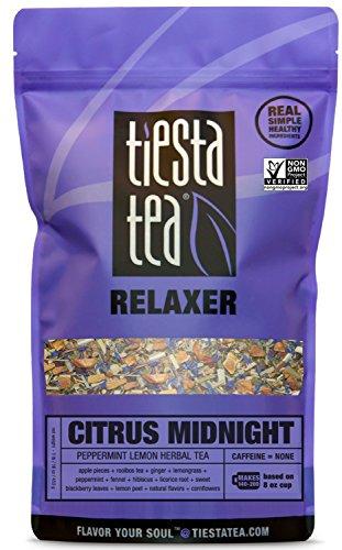 (Tiesta Tea Citrus Midnight, Peppermint Lemon Herbal Tea, 200 Servings, 1 Lb Bag - Caffeine Free, Loose Leaf Herbal Tea, Relaxer Blend, Non-GMO )