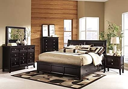 Amazon.com: Ashley Martini Suite B551 4 pc Queen Platform Bedroom ...
