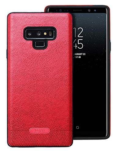 Samsung Galaxy Note 9 Case UCC Luxury PU Leather Grain with Full Body Protective and Anti-Scratch and Non-Slip Design Design for Samsung Galaxy Note 9(Red)