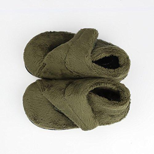 Winter Unisex Baby Girls Boys Velvet Rubber Sole Anit-Slip Shoes Prewalker Boots by Secret Slippers (Image #3)