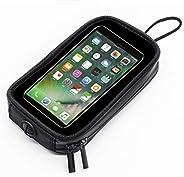 Bolsa magnética para motocicleta, capa transparente à prova d'água para celular com 7 ímãs poderosos, bols